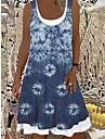 Women\'s A Line Dress Knee Length Dress Imitation denim Sleeveless Print Spring Summer Casual / Daily 2021 S M L XL XXL XXXL