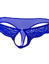 رجالي دانتيل ملابس داخلية خيطية مرن نسبياً خصر منخفض 1 قطعة أزرق حجم واحد