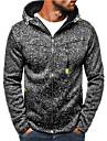 Men\'s Zip Up Hoodie Sweatshirt Color Block Hooded Daily Weekend non-printing Casual Streetwear Hoodies Sweatshirts  Long Sleeve Blue Light gray Black