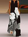 Női Váltó ruha Maxi hosszú ruha Medence Sárga Fehér Világoszöld Ujjatlan Virágos Zseb Nyomtatott Tavasz Nyár V-alakú Buli Alkalmi Parti Szabadság 2021 S M L XL XXL XXXL