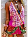 Women\'s Strap Dress Short Mini Dress Blue Purple Orange Green Sleeveless Print Print Summer Elegant Casual 2021 S M L XL XXL 3XL