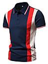 رجالي قميص الجولف قميص تنس غير الطباعة بقع بقع كم قصير فضفاض قمم بسيط خفيف الوزن مريح أبيض أزرق البحرية / عمل