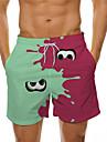 Maillots de Bain Short de bain Maillot de bain Homme Cordon Taille elastique Imprimes Photos OEil Normal Maillots de bain Simple Designer / Ete / Plage