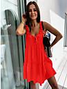 Women\'s Strap Dress Short Mini Dress ArmyGreen Blue Orange Black Apricot Sleeveless Solid Color Spring Summer Casual / Daily 2021 S M L XL
