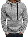 Men\'s Pullover Hoodie Sweatshirt Color Block Hooded Daily Going out Weekend non-printing Casual Streetwear Hoodies Sweatshirts  Long Sleeve Light gray Dark Gray