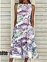Women\'s A Line Dress Midi Dress Blue-2 Purple-2 Purple-1 Blue White Black Short Sleeve Pattern Summer Casual 2021 S M L XL XXL XXXL