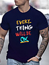 Men\'s Tee T shirt Hot Stamping Graphic Prints Letter Print Short Sleeve Daily Tops Casual Designer Big and Tall Black