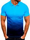 رجالي قميص الجولف قميص تنس غير الطباعة ألوان متناوبة كم قصير فضفاض قمم كاجوال موضة عطلة يوميا أزرق أخضر داكن برتقالي