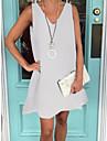 Women's Shift Dress Knee Length Dress Light Gray Sleeveless Solid Colored Spring Summer V Neck Basic Loose 2021 S M L XL XXL XXXL