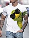 Men\'s Tee T shirt Shirt 3D Print Graphic Prints Frog Print Short Sleeve Daily Tops Casual Designer Big and Tall Round Neck White / Summer