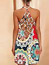 Women\'s Strap Dress Short Mini Dress 3-2 3-4 3-3 3-1 Sleeveless Pattern Summer Casual 2021 S M L XL XXL
