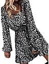 Women\'s A Line Dress Short Mini Dress Tan Blue Black Long Sleeve Print Spring Summer Casual / Daily 2021 S M L XL