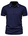 Męskie Koszula golfowa Koszula tenisowa Graficzny Krótki rękaw Codzienny Najfatalniejszy Prosty Wino Biały Granatowy