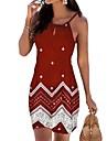 Women\'s A Line Dress Short Mini Dress Blue Red Wine White Black Sleeveless Geometric Spring Summer cold shoulder Boho Holiday 2021 S M L XL XXL