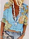 Dámské Halenka Košile Grafika Dlouhý rukáv Tisk Košilový límec Základní Topy Vodní modrá Fialová Světlá růžová