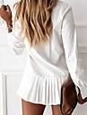 Women\'s Sheath Dress Short Mini Dress khaki White Black Long Sleeve Solid Color Summer Casual 2021 S M L XL 2XL 3XL / Cotton / Cotton