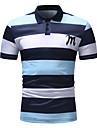 رجالي قميص الجولف قميص تنس مخطط كم قصير فضفاض قمم بسيط أزرق وردي بلاشيهغ