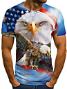 Men\'s Unisex Tee T shirt Shirt 3D Print Graphic Prints Eagle Plus Size Print Short Sleeve Casual Tops Basic Fashion Designer Big and Tall Round Neck Blue