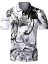 Pánské Golfová košile Tenisové tričko 3D tisk Grafické tisky Tlačítko dolů Krátký rukáv ulice Topy Na běžné nošení Módní Chladný Prodyšné Šedá / Sport