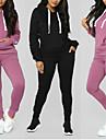 Damskie 2-częściowa Dres Bluza Codzienny Athleisure 2 szto. Zima Długi rękaw Odprowadza wilgoć Oddychający Miękka Zdatność Trening w siłowni Bieganie Jogging Ćwiczenie Odzież sportowa Solidne kolory