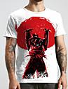 Tee T-shirt Homme Unisexe 3D effet Anime Imprimes Photos Grandes Tailles Imprime Manches Courtes Decontracte Quotidien Standard Polyester basique Designer Grand et grand Col Rond / Ete