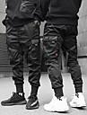 pánské nákladní kalhoty streetwear kalhoty běžecké kalhoty ležérní harémové kotníkové harémové kalhoty se sportovní kapsou&matné černé kalhoty outdoor techwear uvolněné