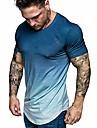 hiriri men shirts hipster hip hop longline crewneck t-shirt tie dye tunic tops slim fit short sleeve blouse navy