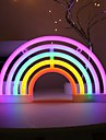 Neon LED Night Light Cute Rainbow Shape Neon USB Battery Powered Children\'s Bedroom Wall Background Decoration Light