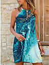 Women\'s Strap Dress Short Mini Dress Blue Purple Sleeveless Color Gradient Print Summer Halter Neck Casual Holiday 2021 S M L XL XXL 3XL