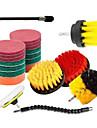 13pcs Electric Scourer Brush Plastic Round Cleaning Brush Kit For Glass Carpets Car Tires Nylon Brushes