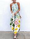 Women\'s Sundress Maxi long Dress Yellow Blushing Pink Khaki Orange White Light gray Light Blue Sleeveless Floral Split Print Fall Summer Halter Neck Casual Holiday 2021 XS S M L XL XXL 3XL 4XL 5XL 6XL