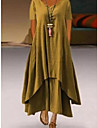 Women\'s A Line Dress Maxi long Dress Chocolate color Yellow White Black Red Short Sleeve Solid Color Summer Casual 2021 S M L XL XXL XXXL 4XL