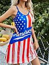 Women\'s Strap Dress Short Mini Dress Blue Purple Sleeveless Print Print Summer V Neck Casual 2021 S M L XL XXL