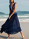 Women\'s Sheath Dress Midi Dress Dark Blue Sleeveless Solid Color Summer Casual 2021 S M L XL