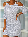 Women\'s A Line Dress Short Mini Dress Blue Yellow Blushing Pink White Short Sleeve Print Spring Summer Casual 2021 S M L XL 2XL 3XL