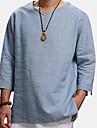 Bărbați Cămașă Mată Manșon Lung Casual Topuri Casual Modă Respirabil Comfortabil În V Alb Negru Albastru Deschis