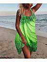 Women\'s A Line Dress Short Mini Dress Blue Green Red Sleeveless Print Cold Shoulder Summer Basic Casual Holiday 2021 S M L XL 2XL 3XL