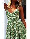 Women\'s A Line Dress Knee Length Dress Blushing Pink Green Black Sleeveless Pattern Summer Casual 2021 S M L XL