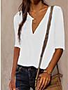 Γυναικεία Μπλούζα Πουκάμισο Σκέτο Λαιμόκοψη V Βασικό Κομψό στυλ street Άριστος Κίτρινο Ανθισμένο Ροζ Λευκό