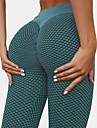 Women\'s High Waist Yoga Pants 2pcs Tiktok Scrunch Butt Ruched Cropped Leggings Tights Tummy Control Butt Lift Quick Dry Jacquard Black Gray Spandex Yoga Fitness Gym Workout High Elasticity