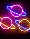 Planet LED Neon Light Christmas Store Window Art Wall Decoration Neon Lamp Battery or USB Powered Party Wall Hanging LED Night Light