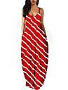Women\'s Strap Dress Maxi long Dress Blue Purple Yellow Wine Green Red Sleeveless Print Pocket Summer V Neck Casual 2021 S M L XL XXL