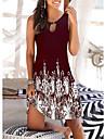 Women\'s A Line Dress Short Mini Dress Black Red Navy Blue Sleeveless Floral Geometric Print Spring Summer V Neck Casual Holiday 2021 S M L XL XXL 3XL 4XL 5XL