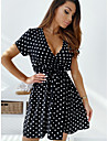 independent station wish amazon hot models 2021 summer new european and american style v-neck short-sleeved dress slim and slim