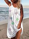2021 summer ebay amazon wish casual women\'s suspender dress dog paw print sexy beach dress