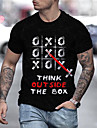 Men\'s Unisex Tee T shirt Shirt 3D Print Graphic Prints Letter Print Short Sleeve Daily Tops Casual Designer Big and Tall Black / Summer