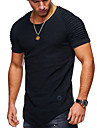 Men\'s T shirt Shirt Solid Colored Plus Size Short Sleeve Daily Tops Basic Round Neck White Army Green Black