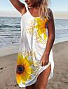 Women\'s Strap Dress Short Mini Dress Sleeveless Sunflower Print Summer Casual Holiday Going out Loose 2021 S M L XL XXL