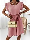 Women\'s A Line Dress Short Mini Dress Purple Blushing Pink Sky Blue White Sleeveless Solid Color Spring Summer Casual 2021 S M L XL XXL