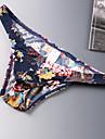 男性用 プリント セクシーなパンティー ブリーフ マイクロエラスティック ローウエスト 1 PC ネービーブルー M